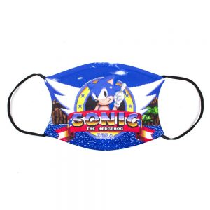 Official SEGA Sonic the Hedgehog Retro Logo Face Mask