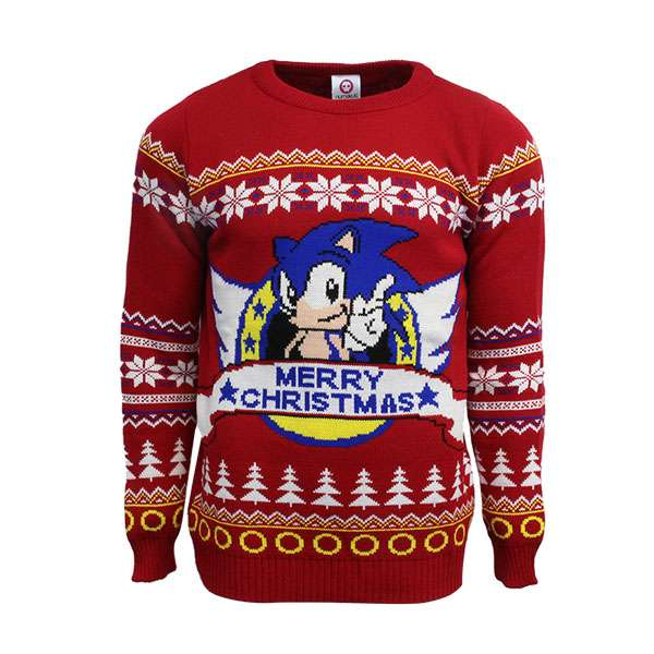 Classic Sonic Christmas Jumper / Sweater