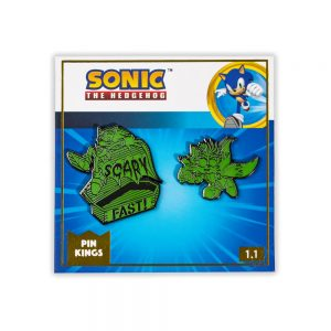 Modern Sonic the Hedgehog Glow in the Dark Halloween Sonic & Tails Enamel Pin Badge Set 1.1