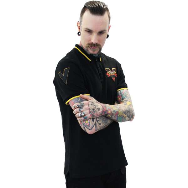 Street Fighter Black Polo Shirt