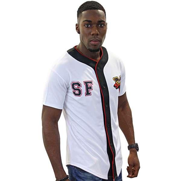 Street Fighter Baseball Shirt