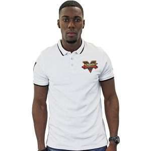Street Fighter White Polo Shirt