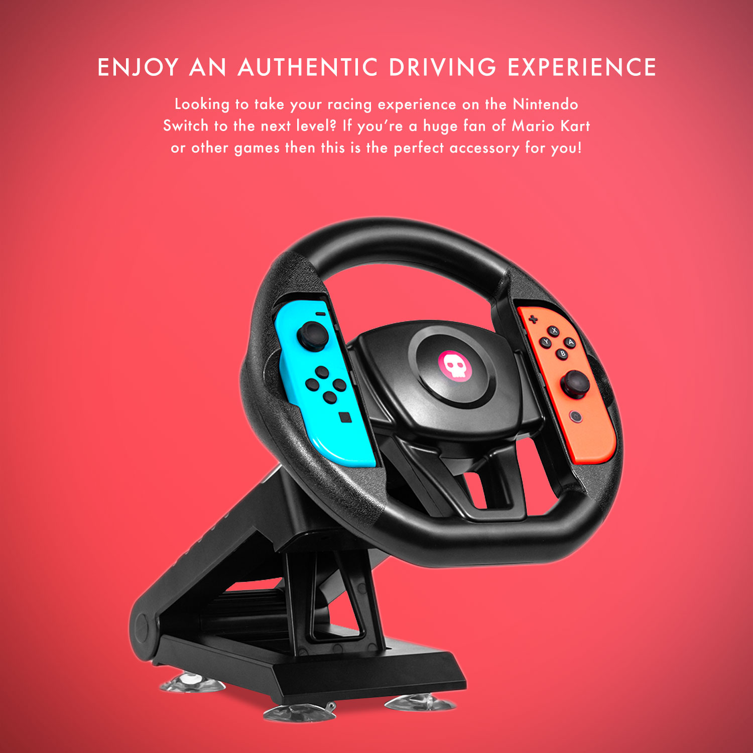 Numskull Nintendo Switch Joy Con Steering Wheel Table Attachment
